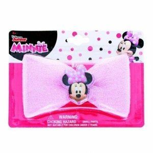 Pink Glitter Minnie Mouse Bow 3+
